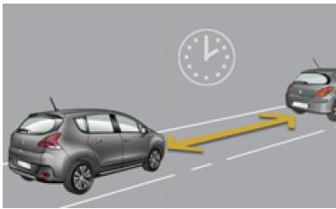 peugeot 3008 distance alert conduite manuel du conducteur peugeot 3008. Black Bedroom Furniture Sets. Home Design Ideas