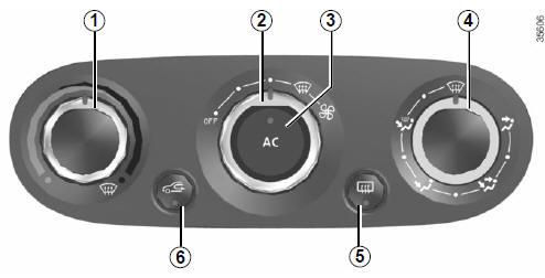 renault captur chauffage et air conditionn manuel votre confort manuel du conducteur. Black Bedroom Furniture Sets. Home Design Ideas