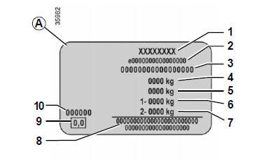 renault captur plaque d 39 identification v hicule caract ristiques techniques manuel du. Black Bedroom Furniture Sets. Home Design Ideas