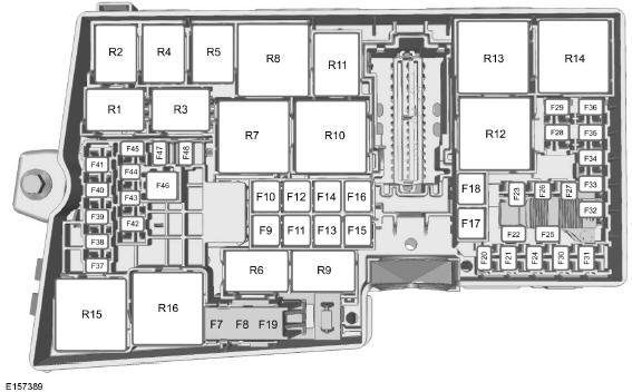 ford kuga tableau de sp cification des fusibles fusibles manuel du conducteur ford kuga. Black Bedroom Furniture Sets. Home Design Ideas